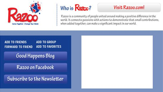 Razoo Social Network Myspace Design