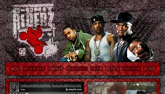 G-Unit Riderz Flash Myspace Design