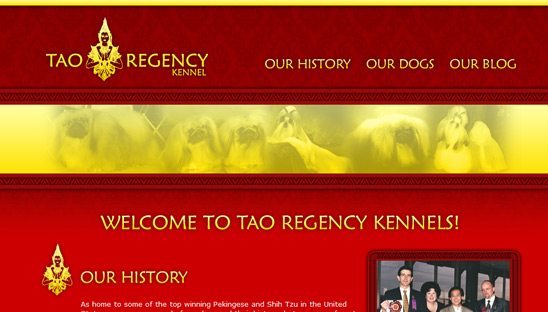 Tao Regency Wordpress web design site
