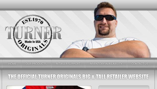 Turner Tees Wordpress CMS Design