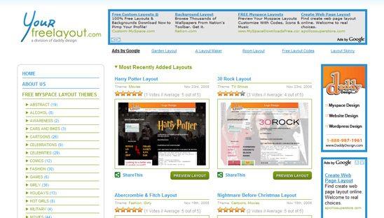 Your Free Layout Wordpress Design