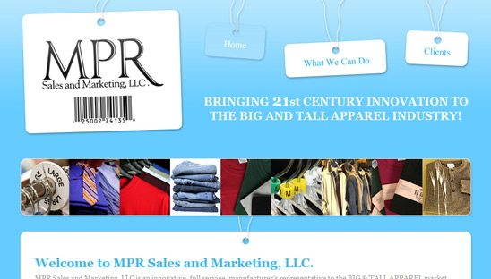 MPR Sales and Marketing Website Design