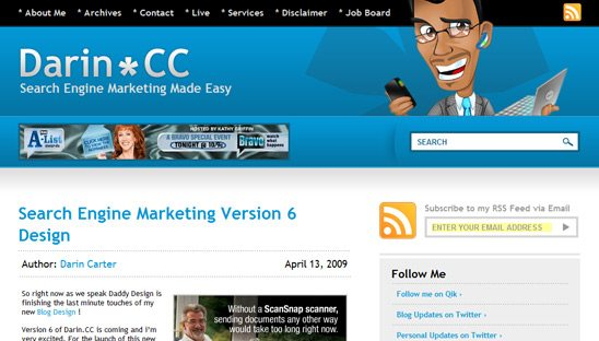 Marketing Wordpress Blog Design