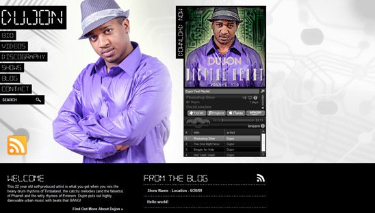 Dujon Antoine Wordpress Website Design