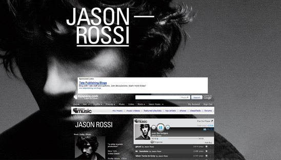 Jason Rossi Band Myspace Design