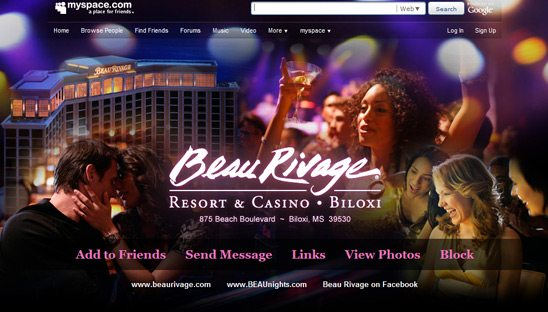 Beau Rivage Advanced 2.0 Myspace Design