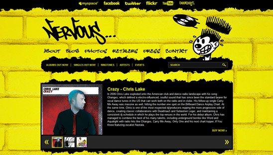 Nervous Records Wordpress Design Website