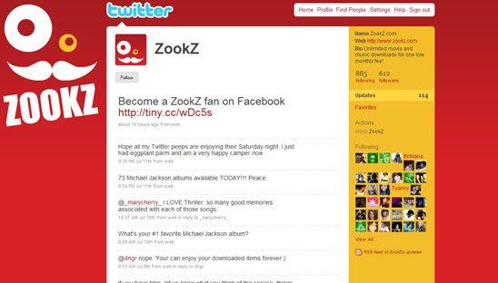 ZookZ Twitter Design