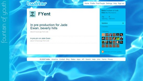 Fountain of Youth Twitter Design