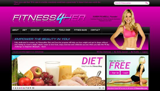 Fitness4her Wordpress Design
