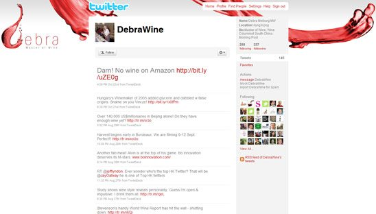 Debra Wine Twitter Design