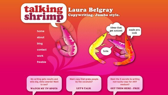 Talking Shrimp Wordpress Site Design