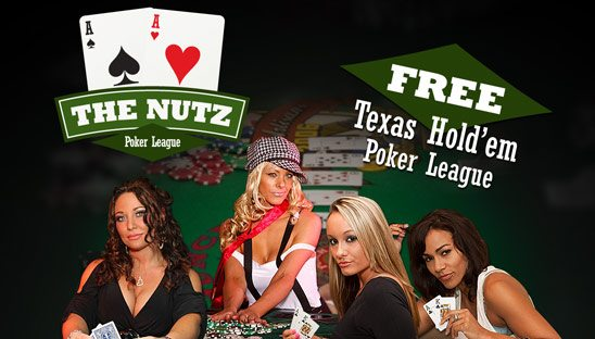 The Nutz Poker League logo & Myspace Design