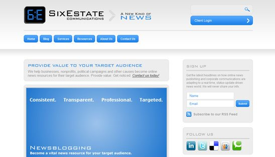 Six Estate Wordpress Design