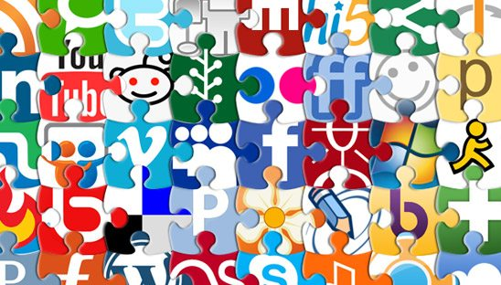 social puzzle icons