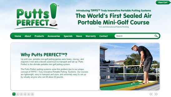 Putts Perfect Wordpress Design