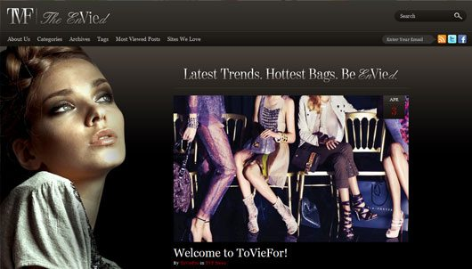 ToVieFor Wordpress Blog Design
