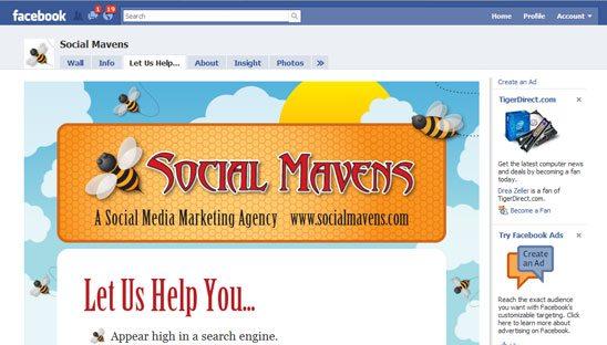 Social Mavens Facebook Tab Design