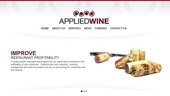 Applied Wine Wordpress Design