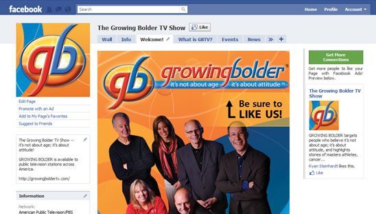 Growing Bolder Custom Facebook Design