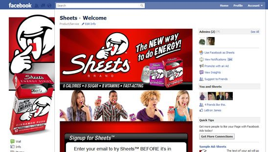 Sheets Brand Facebook Design