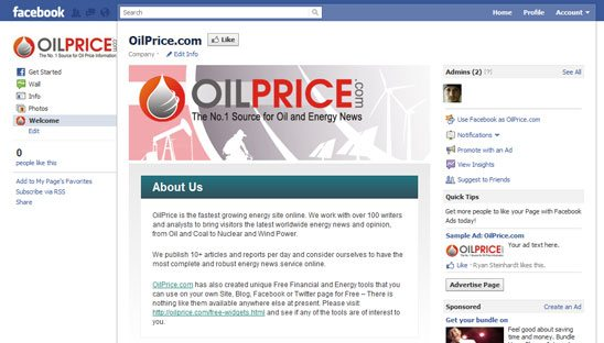 Oil Price Custom Facebook Design