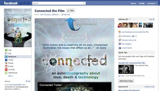 Connected the Film Facebook Design