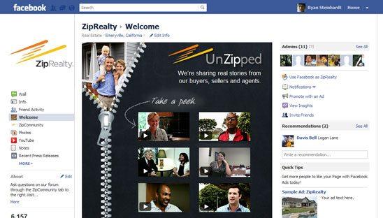 ZipRealty Facebook Video Contest Design