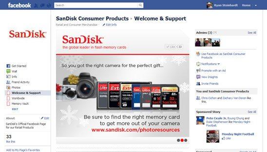 sandisk facebook design