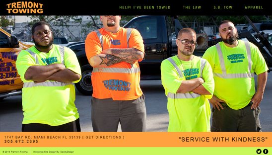 south beach tow website