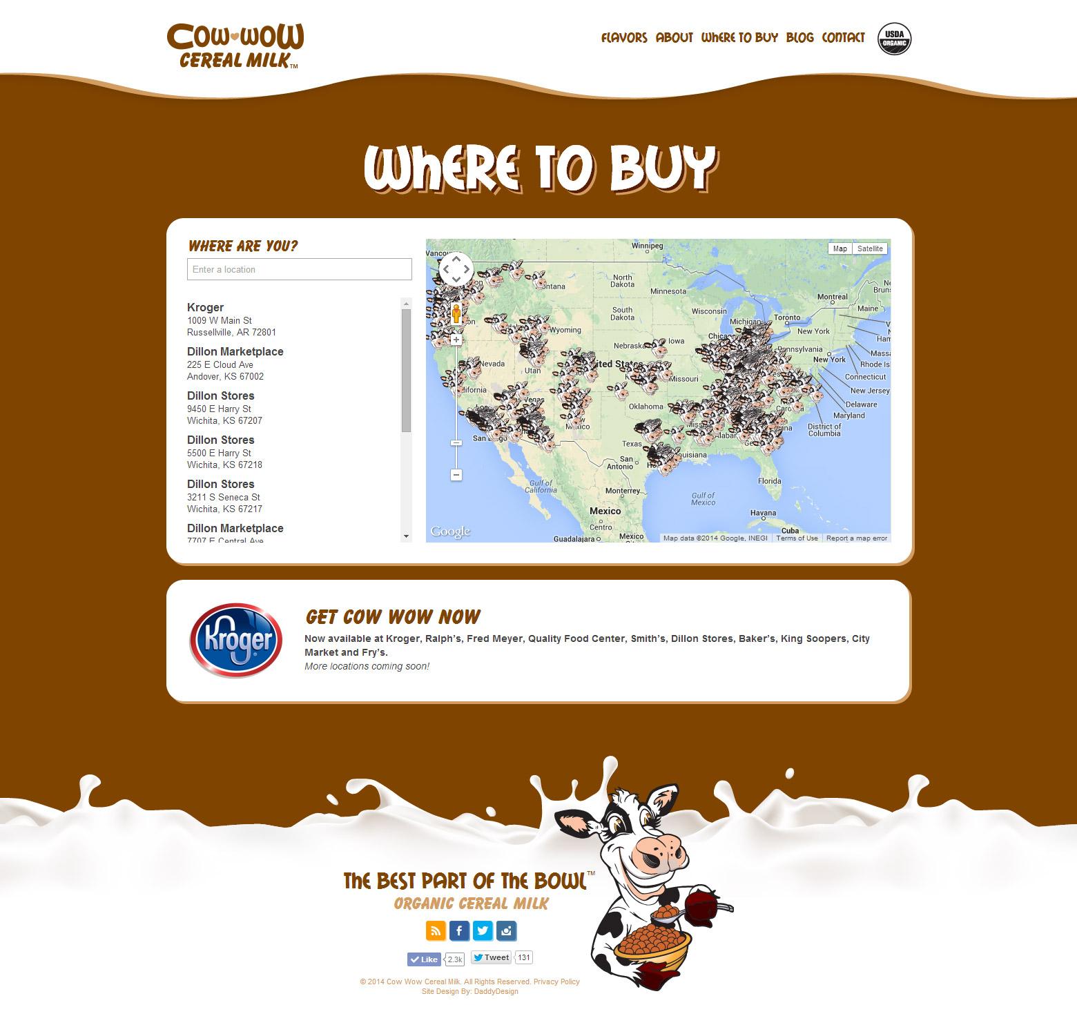 Where to Buy - Custom Google Locator Map