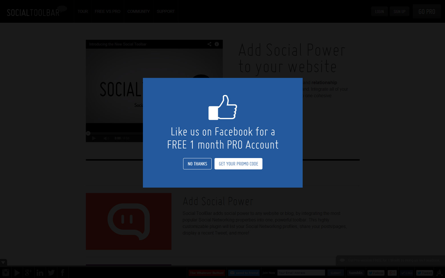 Facebook Deal Lightbox