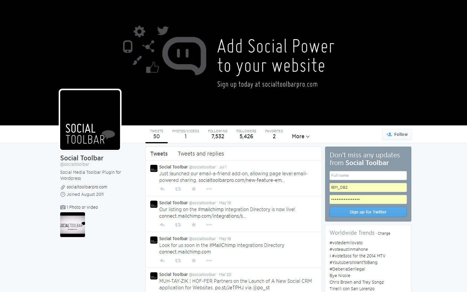 Custom Twitter Design