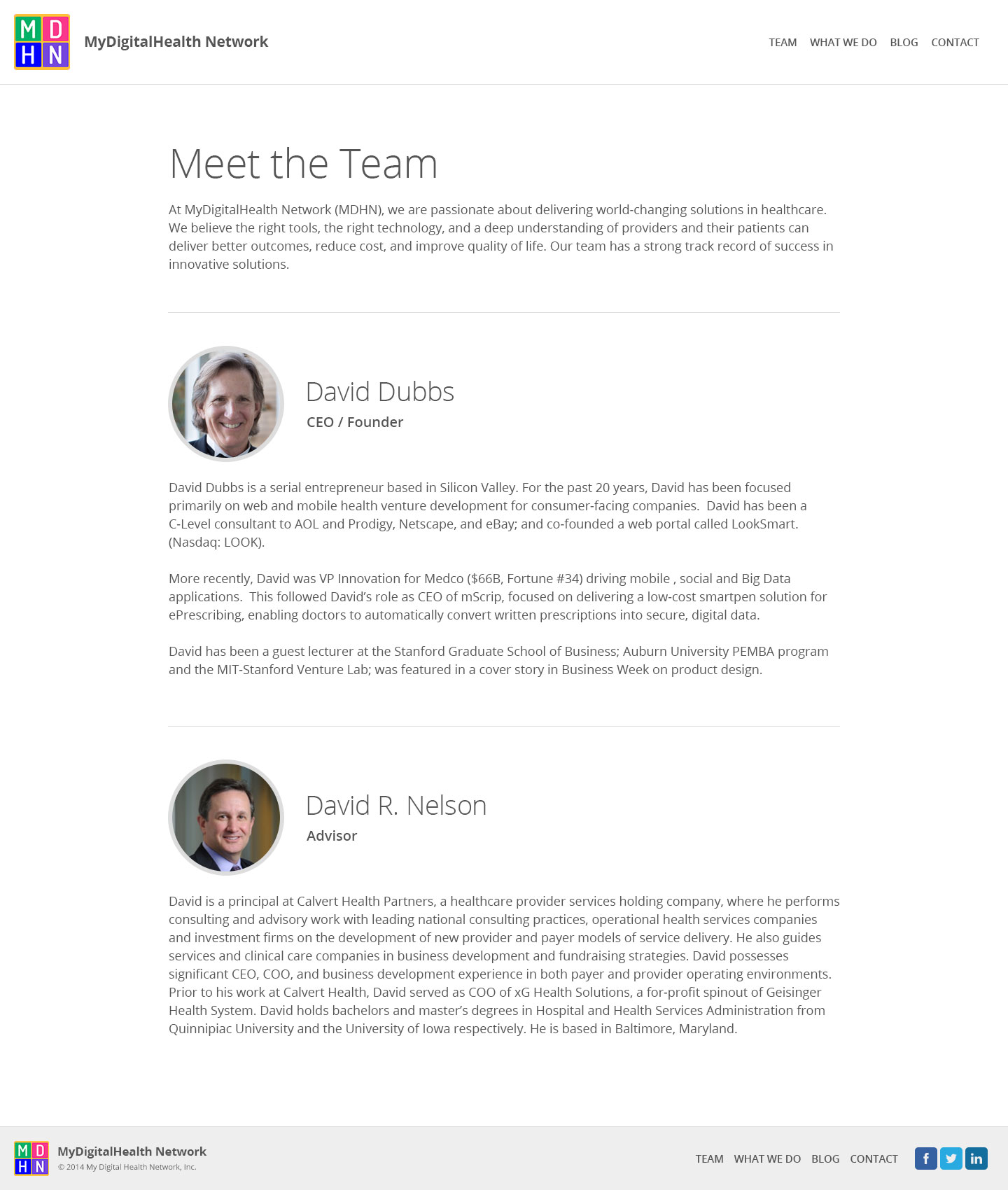 Inside Page - Meet the Team