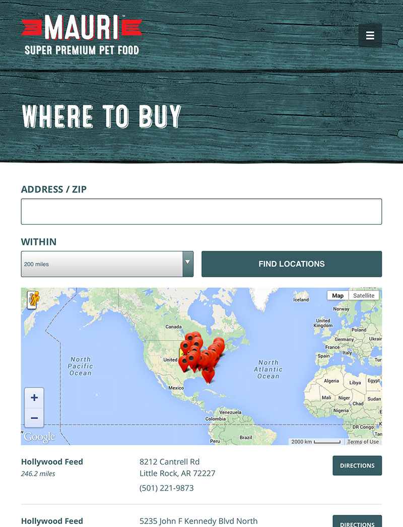 Tablet Responsive Store Locator