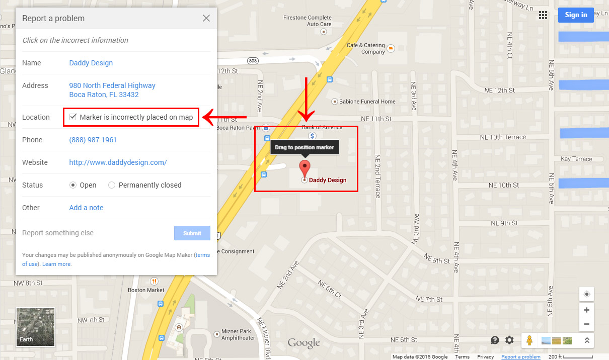 How To Fix An Incorrectly Positioned Google Map Marker For A Google - Add location on map