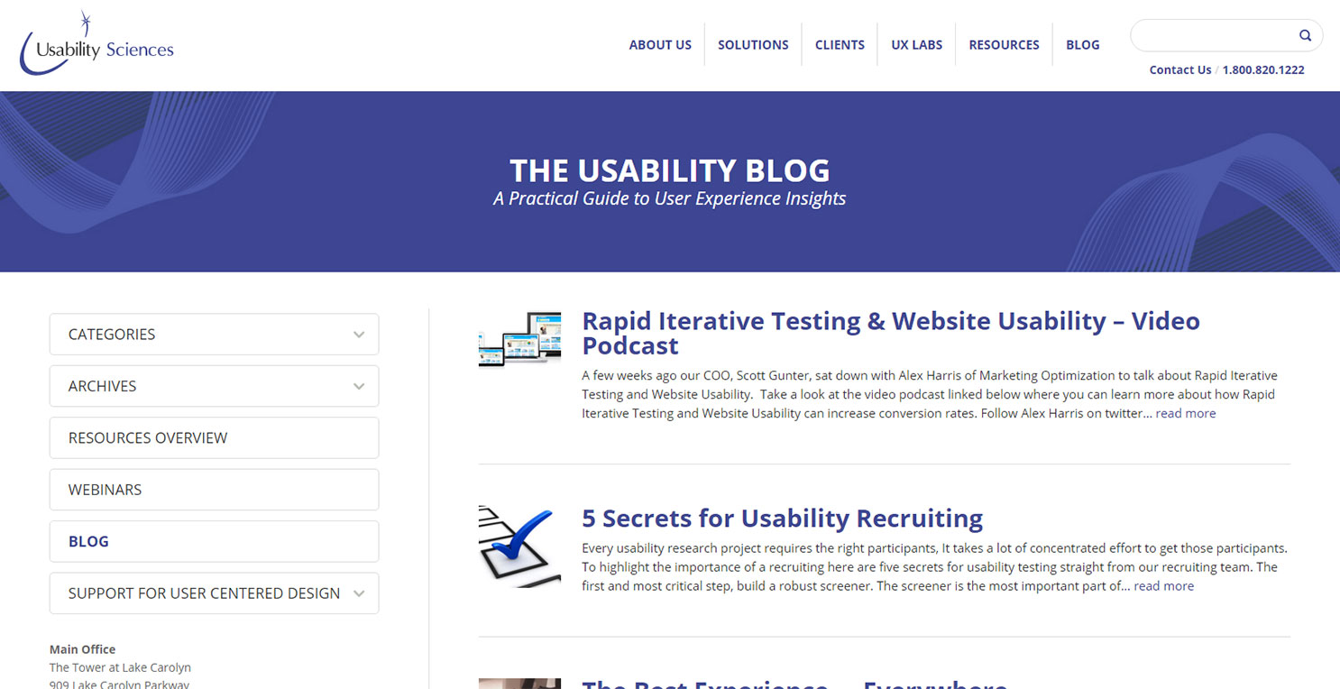 usability science blog