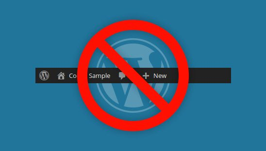 How to Remove the WordPress Admin Toolbar